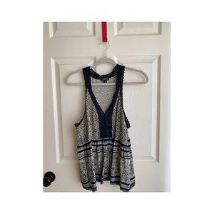 Lucky Brand sleeveless crochet top